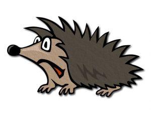 Filcový ježek tištěný