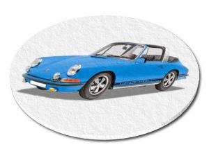 Filcový podtácek Porsche 911