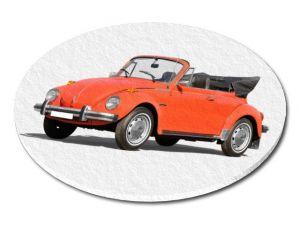 Filcový podtácek VW Brouk