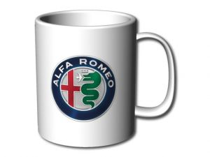 Hrnek bílý Alfa Romeo