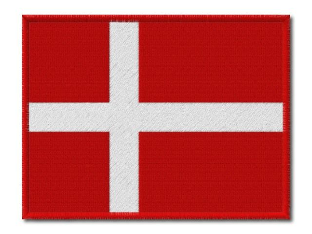 MAXI vyšívaná vlaječka Dánska