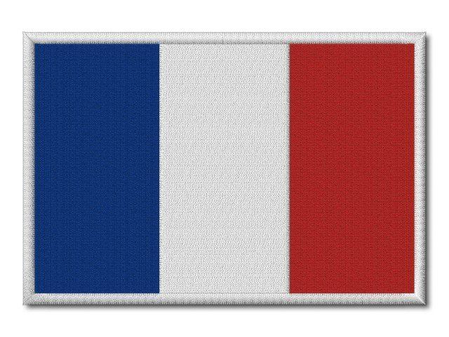 MAXI vyšívaná vlaječka Francie
