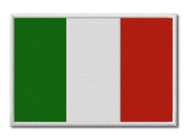MAXI vyšívaná vlaječka Itálie