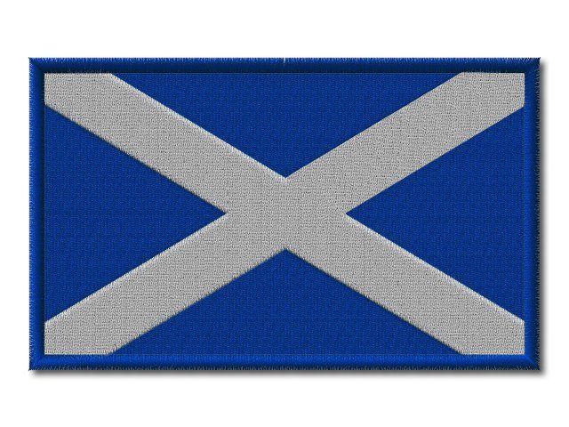 MAXI Skotská vlaječka vyšívaná