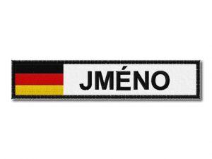 Německá vlajka se jménem