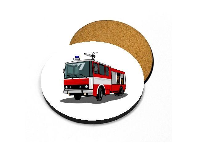 podtácek s hasiči