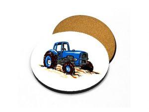 Podtácek traktor modrý