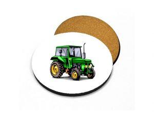 Podtácek traktor zelený