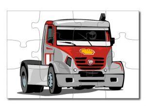 puzzle s kresleným autem 12 dílků