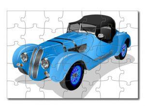 Puzzle A4 auto kreslené 3