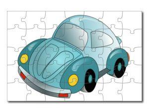 puzzle s kresleným autem 35 dílků
