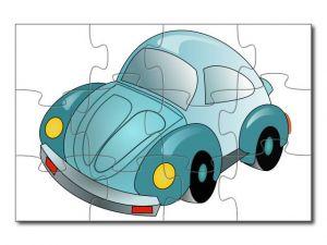 Puzzle A4 auto kreslené