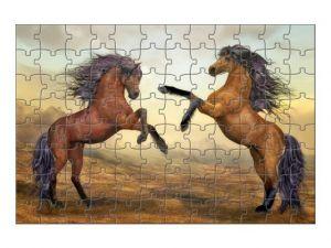 puzzle s koňmi - 88 dílků