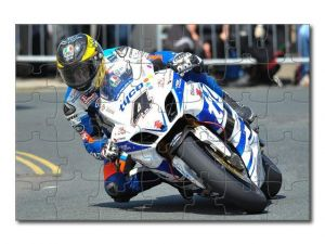 Puzzle A4 motorka závodní