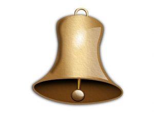 Vánoční zvonek filcový