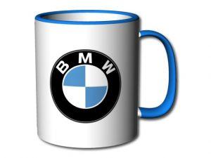 hrnek BMW s modrým uchem