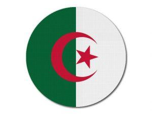 Alžírská vlajka kulatá tisk