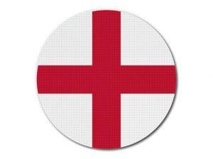 Anglická vlajka kulatá tisk