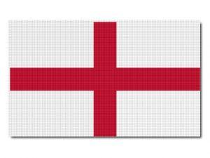 Tištěná anglická vlajka