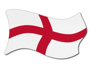 Anglická vlajka vlající