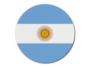 Argentinská vlajka kulatá tisk