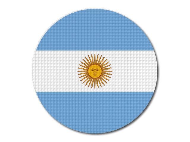 Tištěná argentinská vlajka kulatá