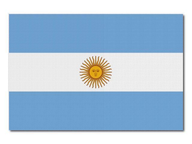 Tištěná argentinská vlajka