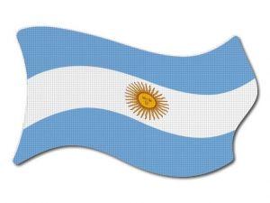 Argentinská vlajka vlající