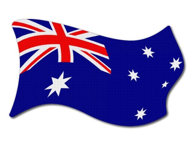 Australská vlajka vlající