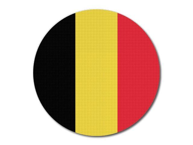 Tištěná belgická vlajka kulatá