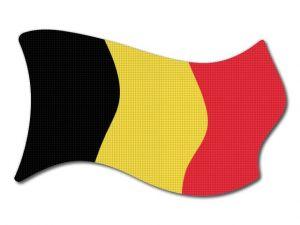 Belgická vlajka vlající