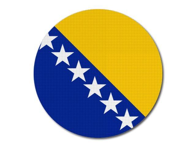 Bosna a Hercegovina - vlajka kulatá