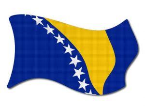 Bosna a Hercegovina vlajka vlající