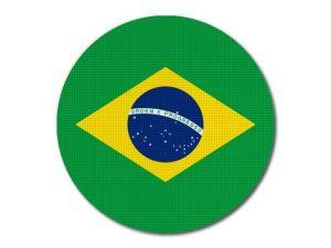 Brazilská vlajka kulatá