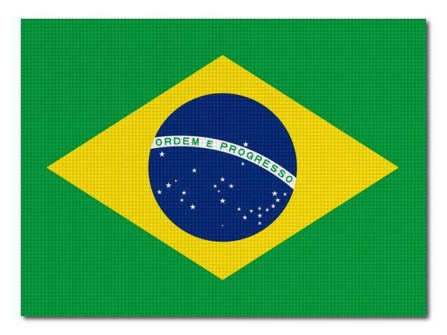 Tištěná brazilská vlajka