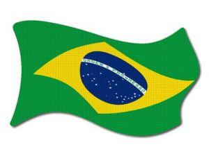Brazilská vlajka vlající