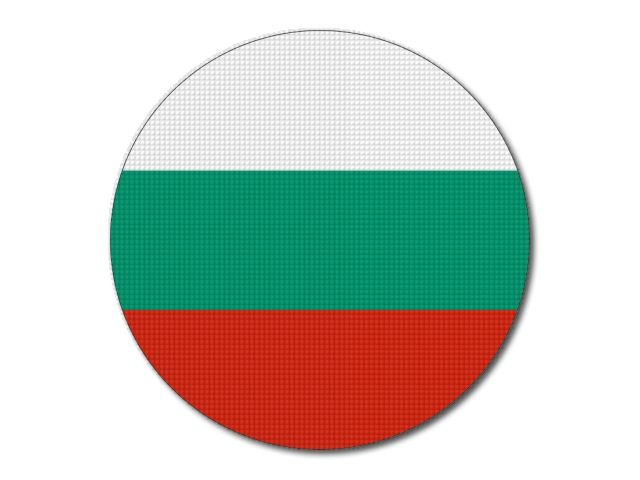 Bulharská vlajka kulatá
