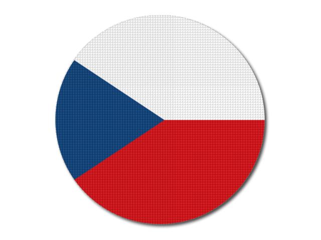 Tištěná česká vlajka kulatá