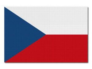 Česká vlajka tištěná