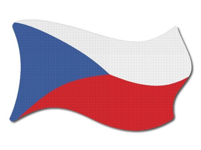 Česká vlajka vlající tisk