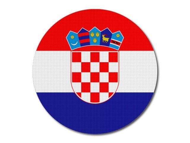 Tištěná chorvatská vlajka kulatá