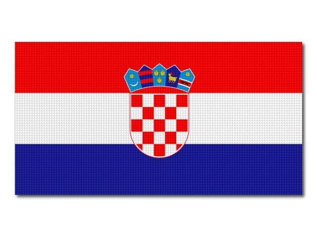 Tištěná chorvatská vlajka