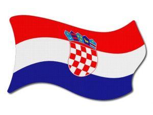Chorvatská vlajka vlající