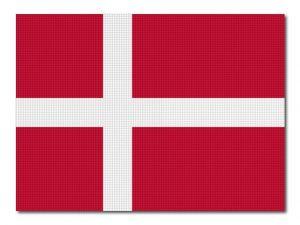 Dánská vlajka tištěná