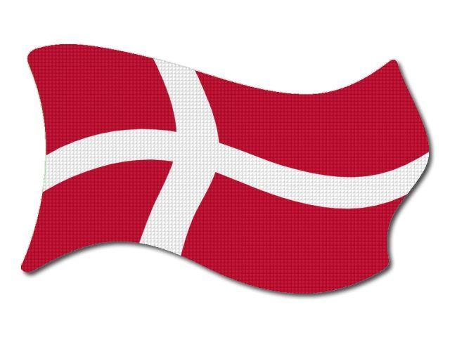 Dánská vlajka vlající