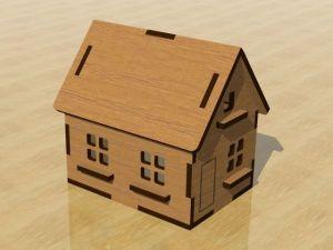 3D domeček - ořechová lazura