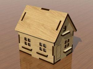 3D domeček - dubová lazura
