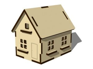 3D domeček - přírodní stav