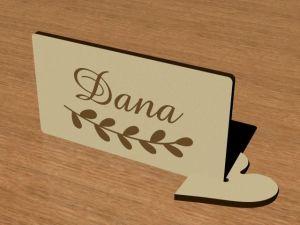 Svatební jmenovka na stůl