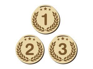 Dřevěná medaile kulatá 13 základ